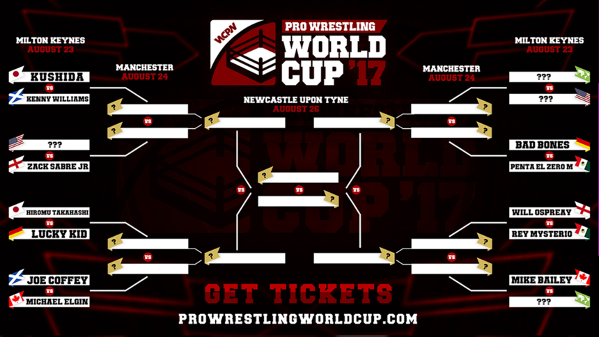 Pro Wrestling World Cup Final Bracket Drawn